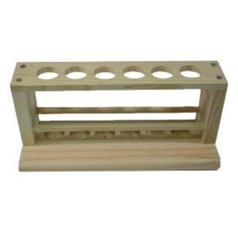 Test Rack by Test Rack Wooden 25mm Holes Science Equipment