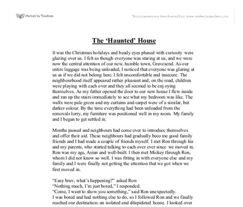 House Essay by Haunted House Essay Essay Meal Plan Exspository Essay Visiting A Haunted House Essay Narrative