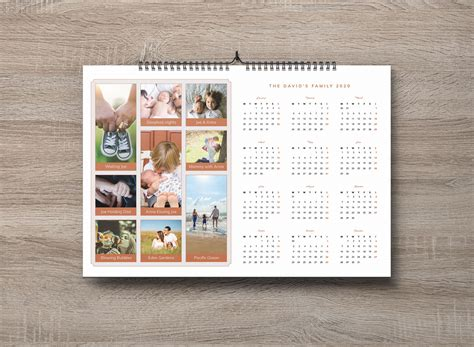 family pictures  calendar design template  ai psd designbolts