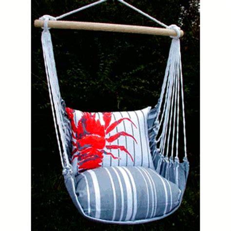 fabric swing chair gray fabric stripe single chair swing set