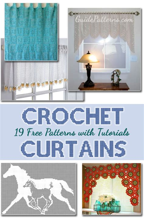 free kitchen curtain patterns 19 cool patterns for crochet curtains guide patterns