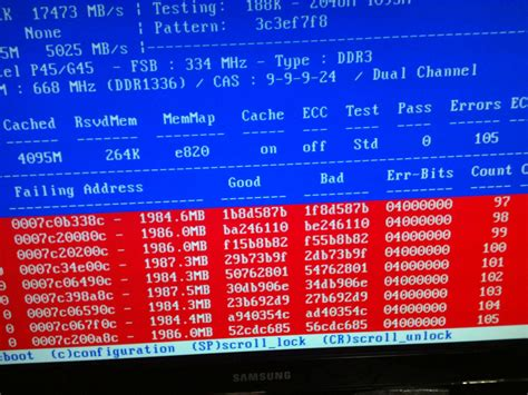 determine ram memory how can i determine which ram module is failing