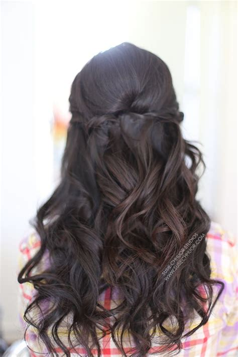 Wedding Hair Half Up Half Curls by Hair Waves Curls Half Up Half Wedding Hair Prom
