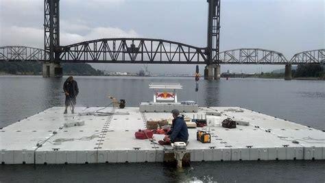 floating boat work platform floating work platform
