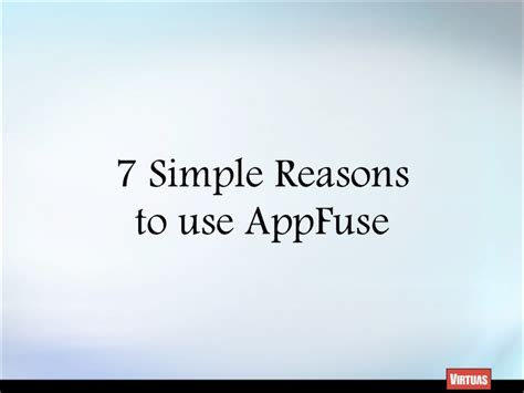 7 Reasons To Use by Seven Simple Reasons To Use Appfuse