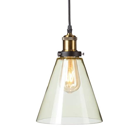 Colored Glass Pendant Light Murphy 1 Light Chagne Colored Glass Mini Pendant L Hd88289 The Home Depot