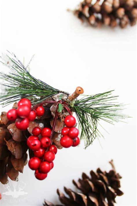 diy pine cone ornaments diy pine cone ornaments domestically creative