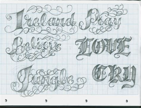 tattoo lettering design lettering