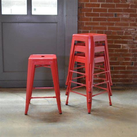 Stackable Stools Family Dollar by Save Big On A Set Of 4 Loft Style 24 In Stackable Metal