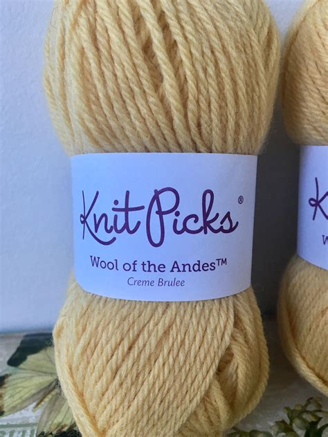 Knit Picks Wool Of The Andes Yarn Creme Brulee Yellow Yarn