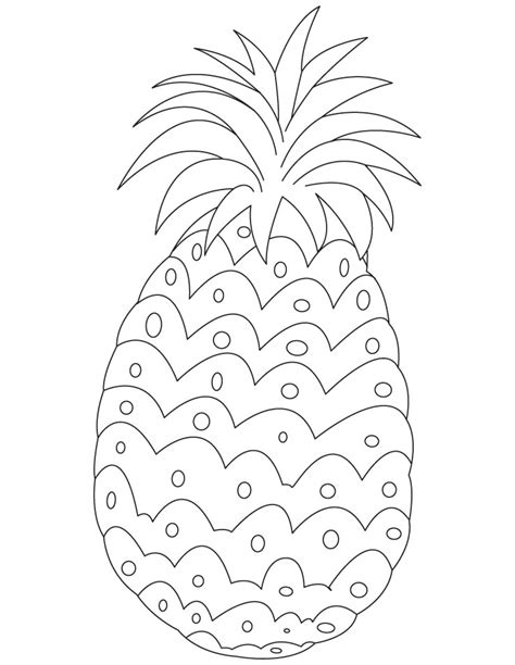 pineapple coloring page free printable pineapple coloring pages for