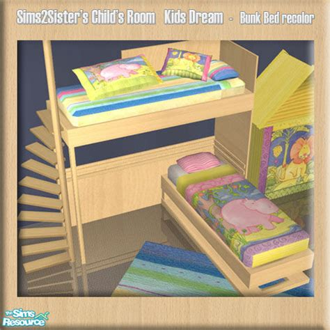 sims 2 bunk beds sims2sisters s2s child room jungle1 bunk bed