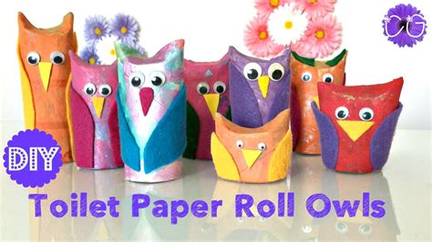 How To Make Owls Out Of Toilet Paper Rolls - toilet paper roll owls easy adorable