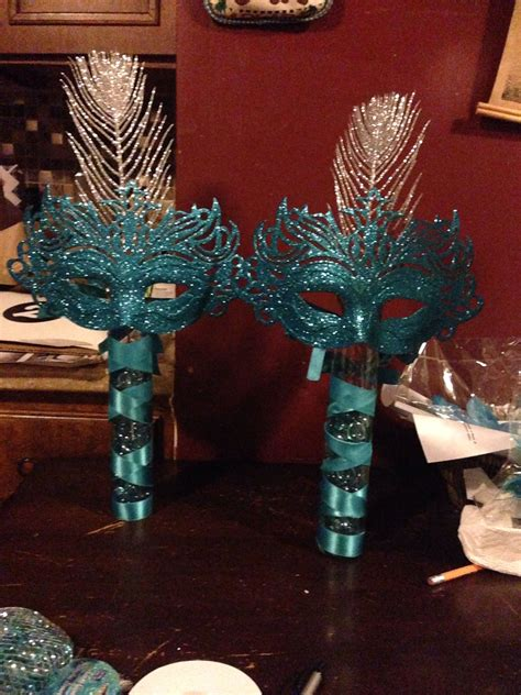 quinceanera mask themes mask centerpiece table decor masquerade centerpieces for