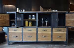 Exceptionnel Meuble De Rangement Salle A Manger #2: 276buffet-haut-industriel-vaisselier.JPG