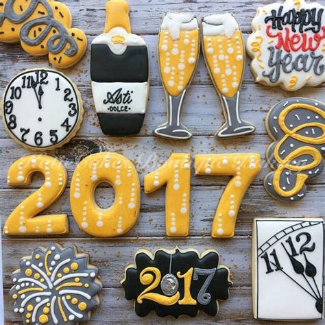 new year cookies decoration 186 best cookies new year images on decorated