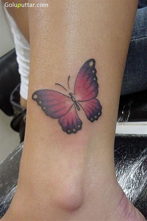 butterfly ankle tattoos ankle butterfly tattoos