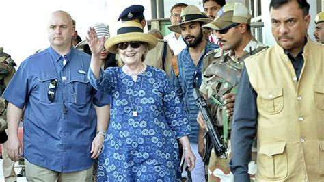 is she okay hillary clinton slips down the stairs while hillary clinton falls in india she stumbles down stairs