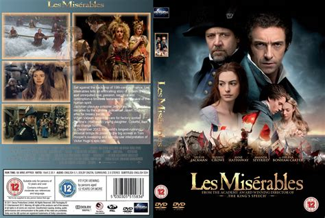dvd slipcover les miserables 2013 r2 custom movie dvd front dvd cover