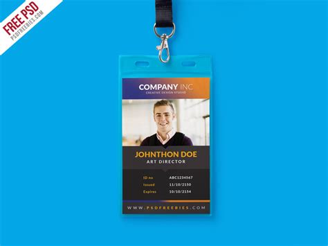 employee id card design template psd free creative identity card design template psd