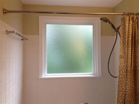 Bathroom Shower With Window What To Do If You A Window In Your Shower Install A Vinyl Window With Privacy Glass