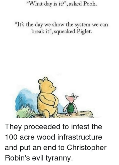 Christopher Robin Meme - funny pooh memes of 2017 on sizzle its only wednesday