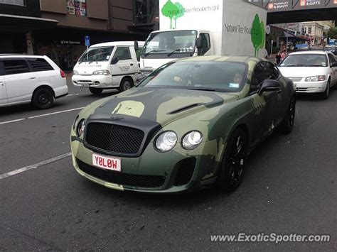 bentley camo bentley continental spotted in auckland zealand on 12