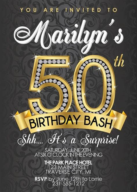 50th birthday invitation templates free 50th birthday invitations free templates all