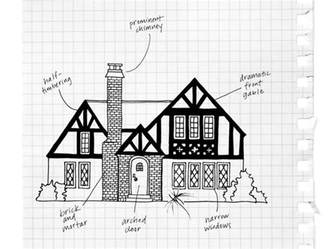 tudor house drawing sketch coloring page