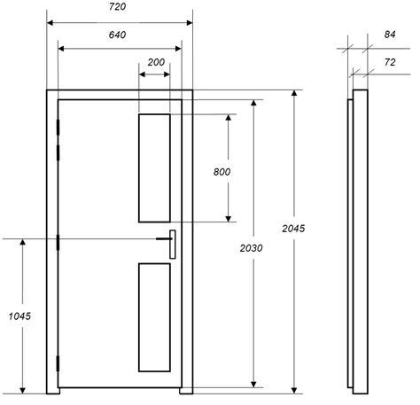 Dimension Porte De by Portes Isophoniques Iso P2v Porte Acoustique
