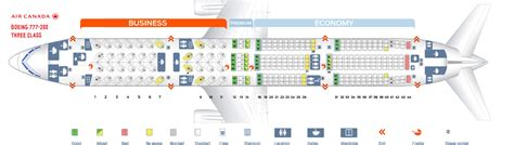 seating chart boeing 777 seat map boeing 777 200 air canada best seats in plane
