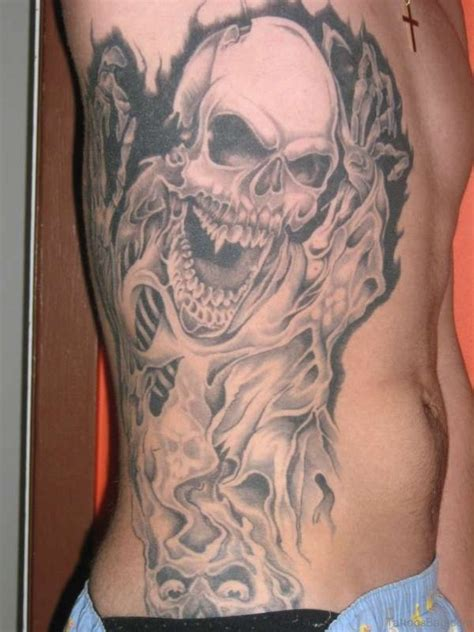 awesome skull tattoos 59 fabulous skull tattoos for rib
