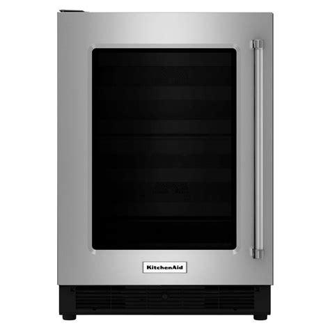 kitchenaid 24 in w 5 1 cu ft undercounter refrigerator