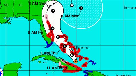 us weather map hurricane hurricane matthew map projected path of the