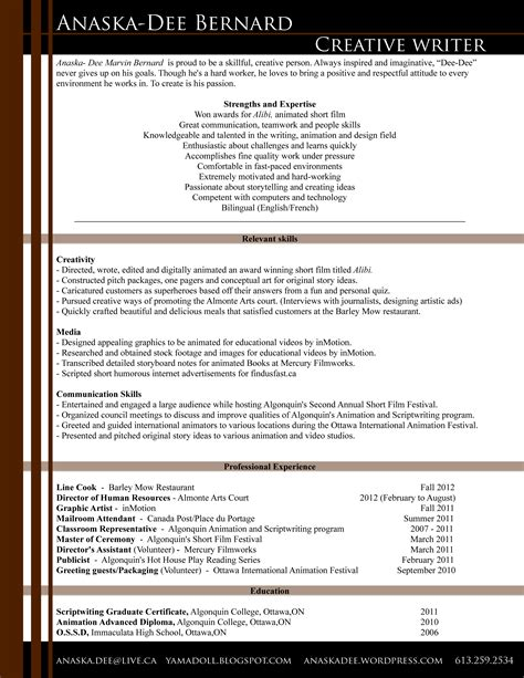 writers resume 100 resume for writers outline for writing a resume