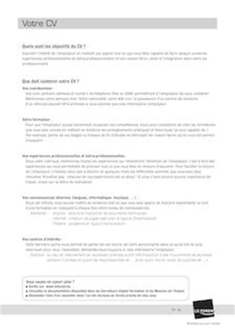 modele cv pole emploi contrat de travail 2018