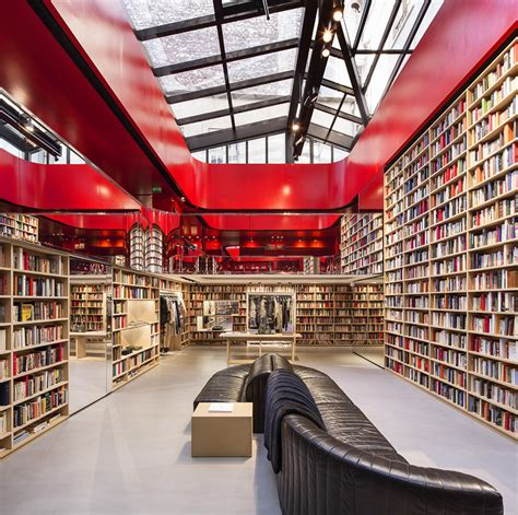designboom paris sonia rykiel s caf 233 cum library concept for book lined