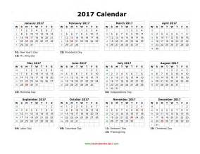 Yearly Calendar Template Word by 2017 Monthly Calendar Word Printable Calendar Templates