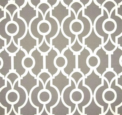 Designer Indoor Outdoor Grey Fabric By The Yard By