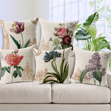 retro home decor american country style floral cushion cover vintage home