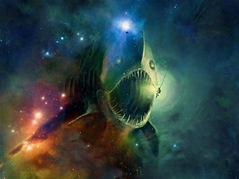 outer space fish anglerfish wallpaper allwallpaper in 4283 pc en
