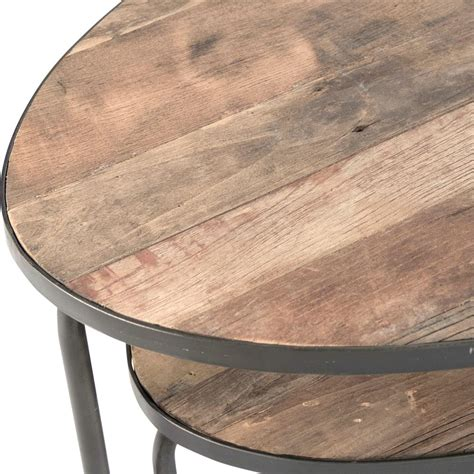 Rustic Oval Coffee Table Herten Industrial Loft Rustic Wood Metal Frame Oval Coffee Table Kathy Kuo Home