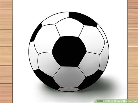 How To Make A 3d Football Out Of Paper - 3 ways to draw a soccer wikihow