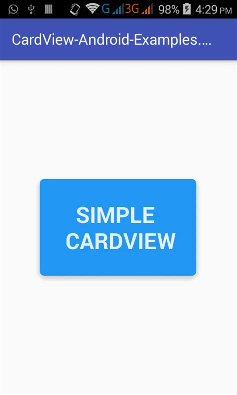 android tutorial android cardview exle tutorial using android studio