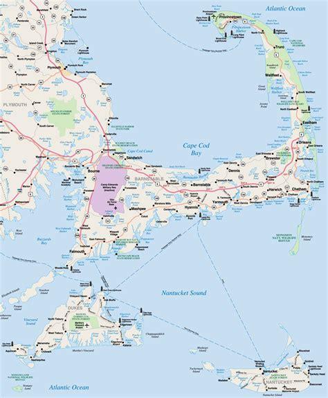 map of cape cod ma print map