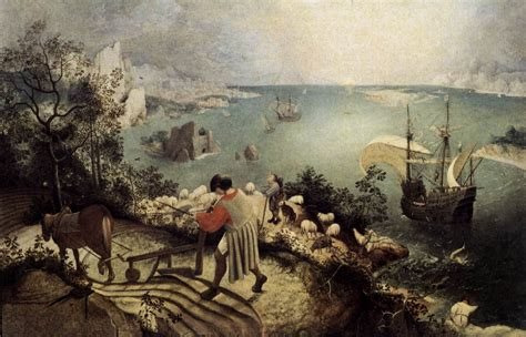 painting for elders landscape with the fall of icarus by bruegel pieter the elder