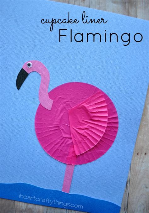 flamingo craft projects cupcake liner flamingo craft i crafty things