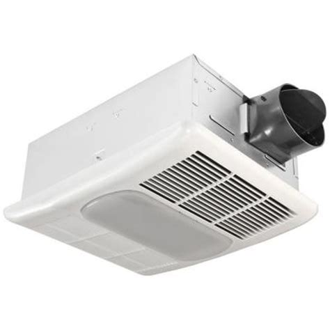Ceiling Exhaust Fan With Light And Heater Delta Breez Radiance 80 Cfm Ceiling Exhaust Fan With Light And Heater Rad80l The Home Depot