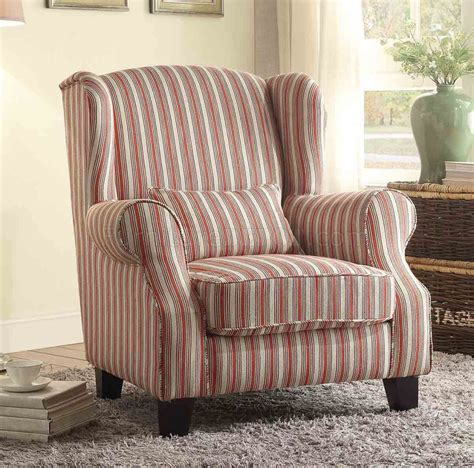 la verne 1237f1s accent chair in striped fabric by homelegance