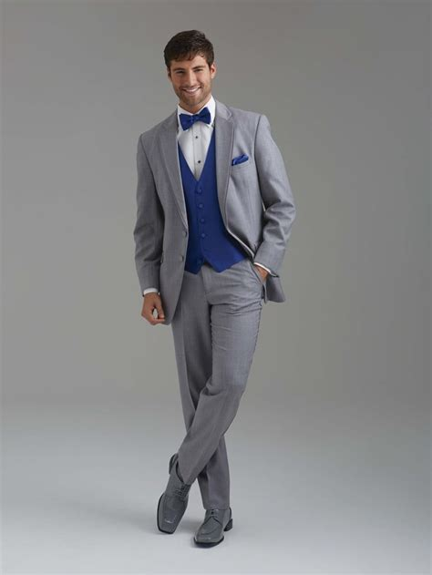 Royal blue vest & tie with an all grey suit by Sarno